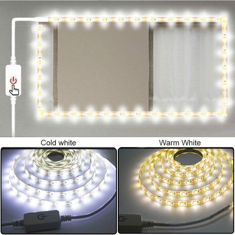 5M Waterproof Makeup Strip Light String USB Dimm Mirror Light  5V Dressing Table Bathroom Lamp Tape Led Vanity Mirror Make Up