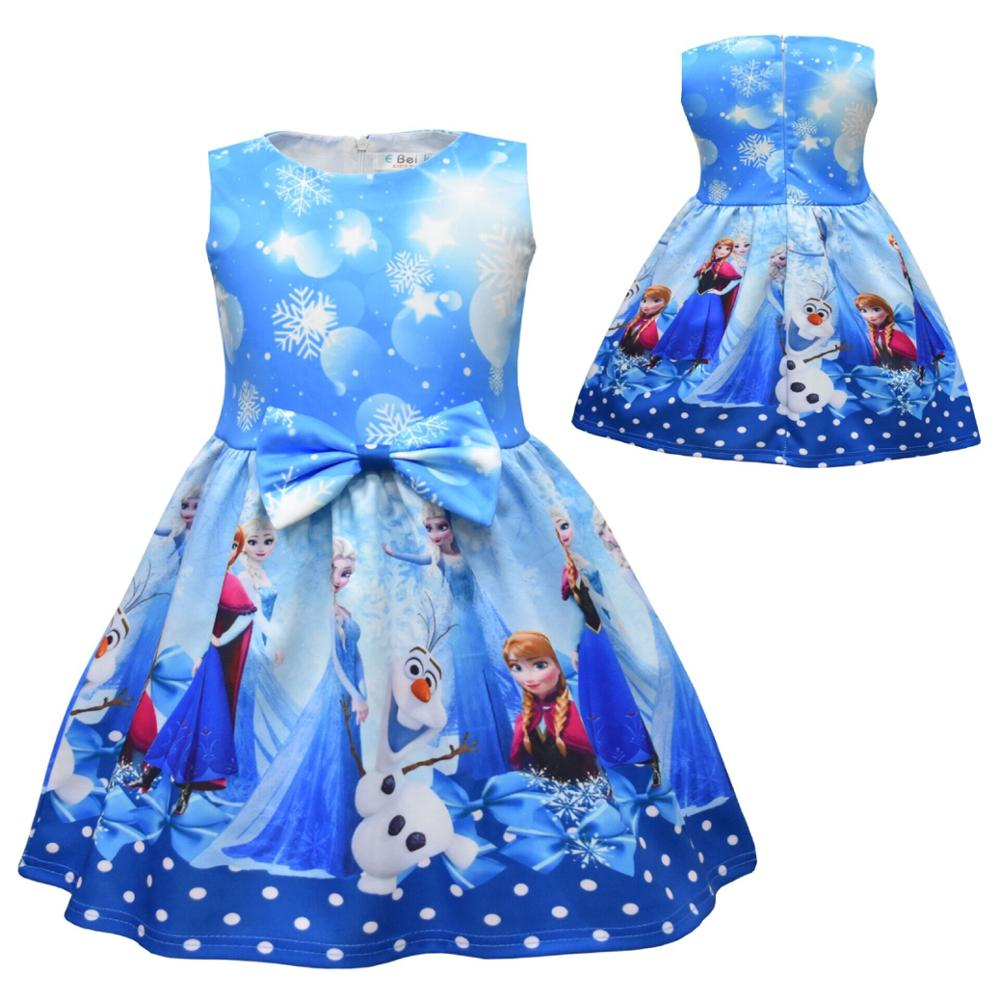 New Summer Surprise Girl Princess Dress Cute Cartoon Unicorn Party Dress Children Clothing 2