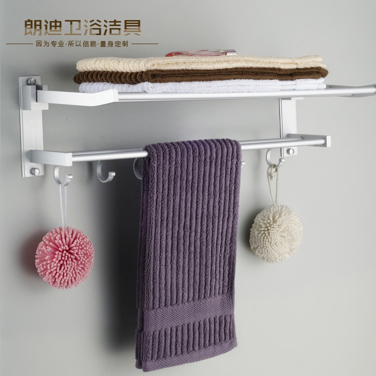 Manufacturers Direct Selling Towel Rack Wholesale Supply Alumimum Towel Rack Bathroom Shelf High Quality Real Price