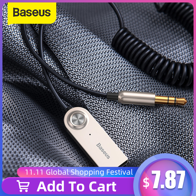 Baseus Bluetooth Transmitter Wireless Bluetooth Receiver 5 0 Car AUX 3 5mm Bluetooth Adapter Audio Cable For Speaker Headphones