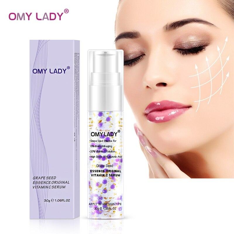 OMY LADY Grape Seed Essence Original Vitamin C Serum Face Cream Liquid Essence Delay Aging Reduce Wrinkles Moisturizing Skin