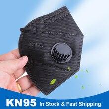 20 pces ffp2 kn95 máscara protetora pm2.5 95% 5-lay máscara de proteção de filtragem reutilizável kn95 máscaras de poeira n95 válvula respirador