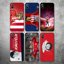 Phone Case Joao Felix For iphone Atletico Madrid DIY Black Soft TPU iPhone 11Pro X XR XS MAX 7 8 7plus 6 6S 5s SE