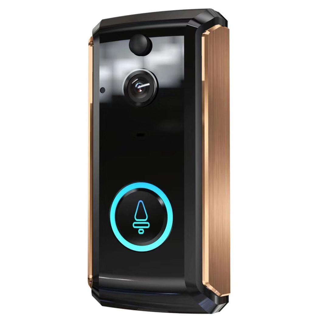 Sonnette intelligente d'interphone vocal Wifi maison 8 GB, 16 GB, 32GB surveillance intelligente de carte de stockage 170mA sonnette