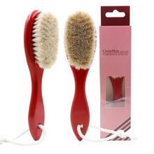 1PCS Horse Hair Bristle Retro Oil Head Brush Barber Carving Facial and Neck Broken Hair Duster Brush for 3-color