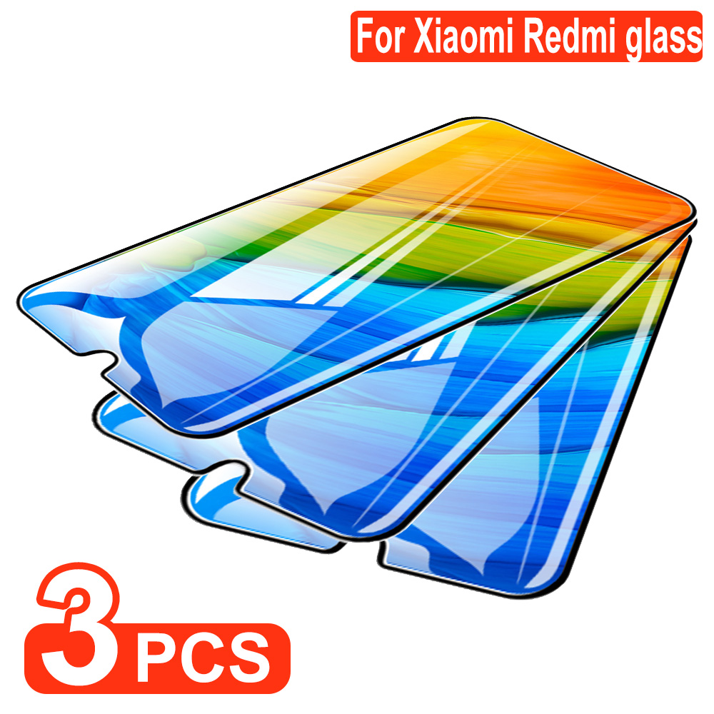 3Pcs Tempered Glass On For Xiaomi Redmi Note 7 MiA3 8Pro Full Cover Screen Protector For Redmi Note 8 6A 7A 5 S2 Protective Film