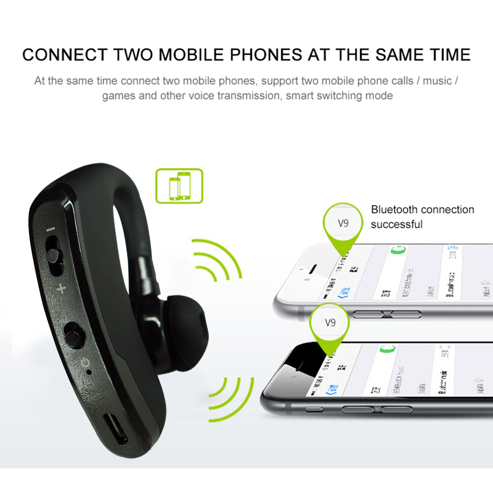 Bluetooth Earphone Wireless Headphone Handsfree Headset Earbud With HD Microphone For Driver Sport Phone iPhone Samsung xiaomi 5