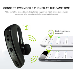 Image 5 - Bluetooth Earphone Wireless Headphone Handsfree Headset Earbud With HD Microphone For Driver Sport Phone iPhone Samsung xiaomi