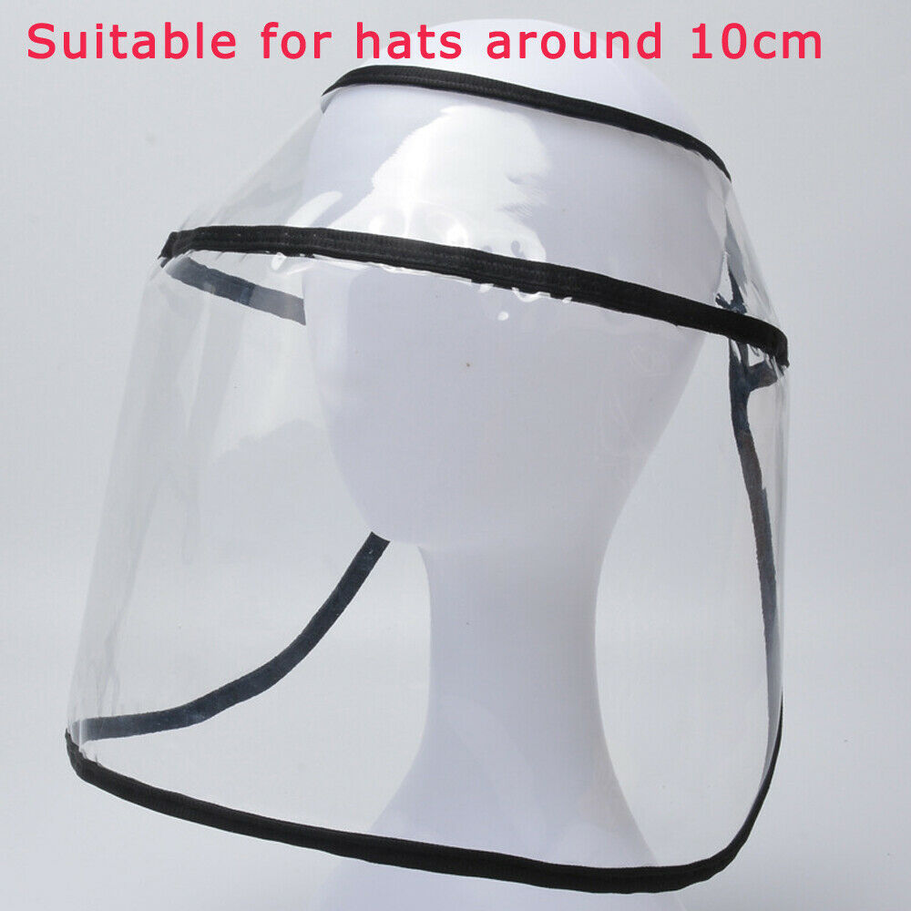 Protective Clear Face Mask Removable Cap Anti-fog Dust Windproof Fisherman Hat