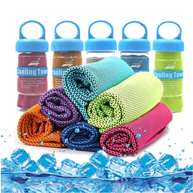 2019 New Hot Sport Icing Cold Towel Quicky-dry Instant Chilly Cooling FACE Towel Gym Fitness Excerise Bench Towel For Men Women