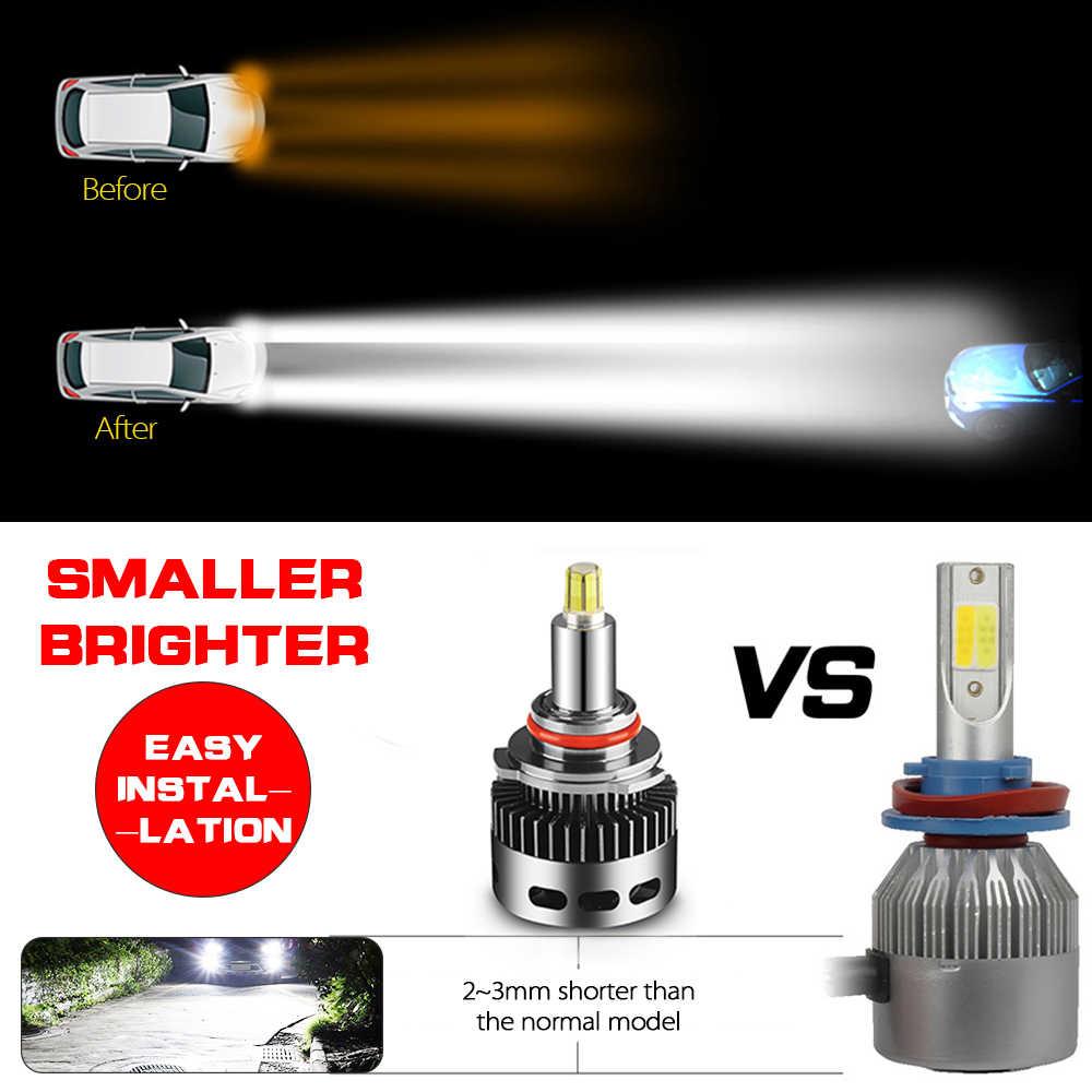 11000LM Canbus H1 H7 светодиодные лампы для автомобильных фар 6500 к H8 H11 HB3 9005 HB4 9006 100W 3D 360 градусов Автомобильный автомобильные Противотуманные фары лампы