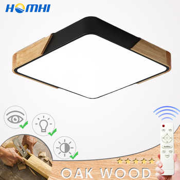 room lamp led ceiling lights with remote control modern house deco nordic wood ceiling lamp square home lighting living room - DISCOUNT ITEM  48% OFF All Category