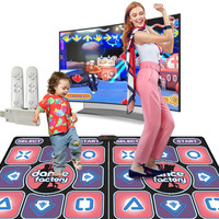 Wireless Dancing Carpet Family Game Running Yoga Fitness Alfombra Carpets For Living Room Entertainment Game Buffalo Plaid Rug