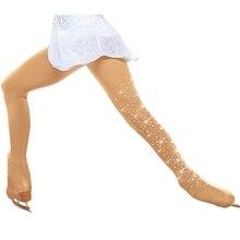 Rhinestone Figure Skating Pantyhose Adult Gymnastics Leotard Ice Skating Pants Socks Girls Tights Children Fitness Leggings