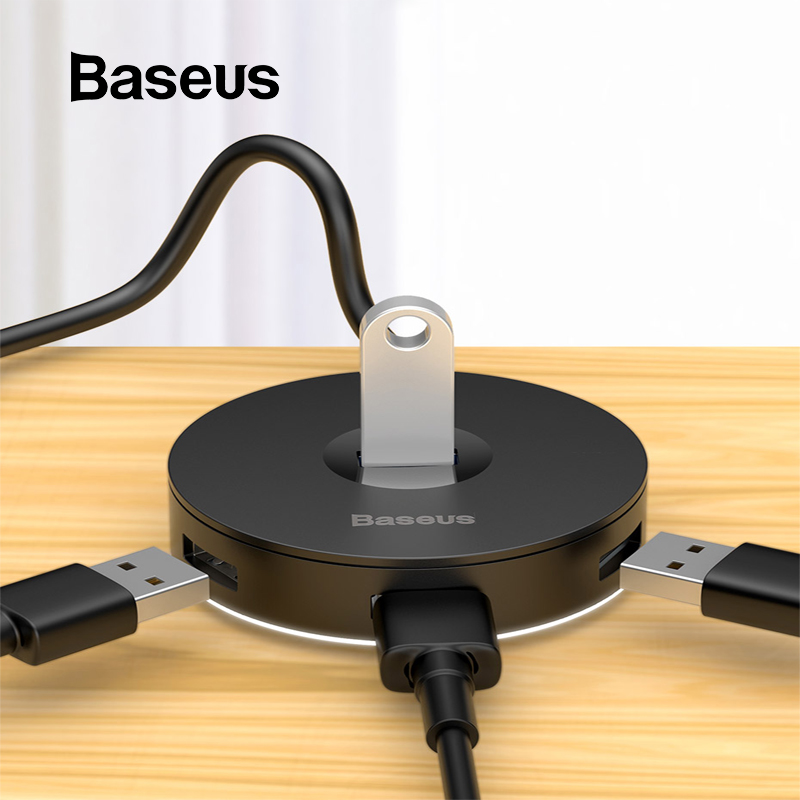 Baseus USB 3.0 USB C HUB For MacBook Pro Surface Type C HUB USB Adapter Micro USB 2.0 Computer Accessories 4 Ports USB Splitter