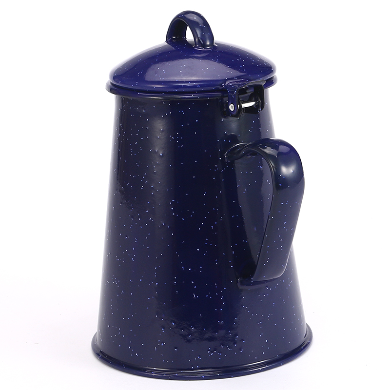 0 8L 2 4L Enamel Coffee Pot Hand Tea Enamel Kettle Induction Cooker Gas Stove Enamel kettle Universal for Home Kitchen in Water Bottles from Home Garden