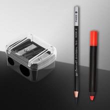 Apontador de lápis de buraco duplo bonito clássico maquiagem caneta apontador para meninas presentes de volta para a escola suprimentos papelaria coreano
