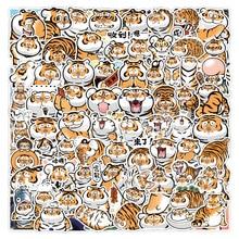 100PCS Cute Tiger stickers Cartoon Emoticon Bag Graffiti Notebook Suitcase Car Decoration Waterproof Sticker Classic Toys
