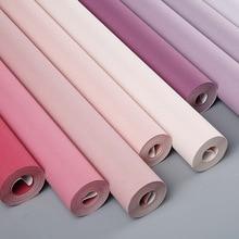 Northern European Ins Pure Color Net Red Princess Pink Wallpaper Girl's Bedroom Dirty Pink Girl's Children's Room Wallpaper