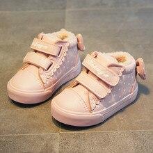 Babaya 2019 شتاء جديد حذاء طفل لطيف القوس الأميرة أحذية طفل الفتيات أحذية غير رسمية زائد المخملية الشتاء أحذية الفتيات الأحذية