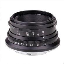 Risespray mini 35mm f1.6 lente da câmera APS-C lente fixa manual para sony e montagem câmera venda quente