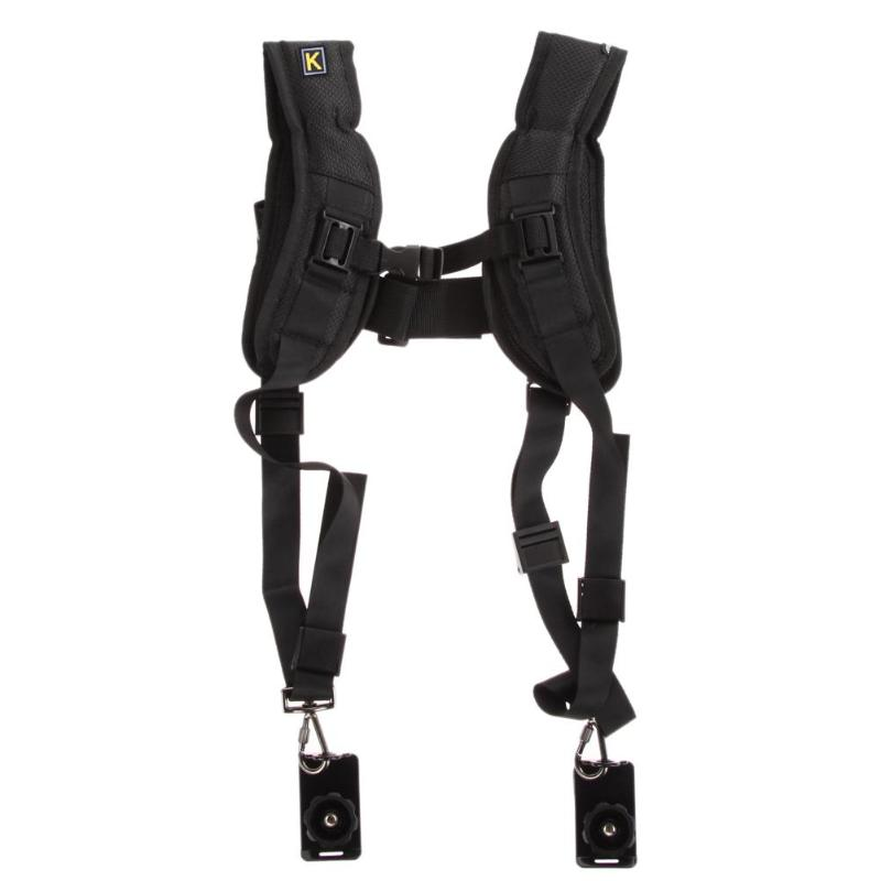 Breathable Double  Camera Strap Double Dual Shoulder Sling Belt  For DSLR Digital Camera
