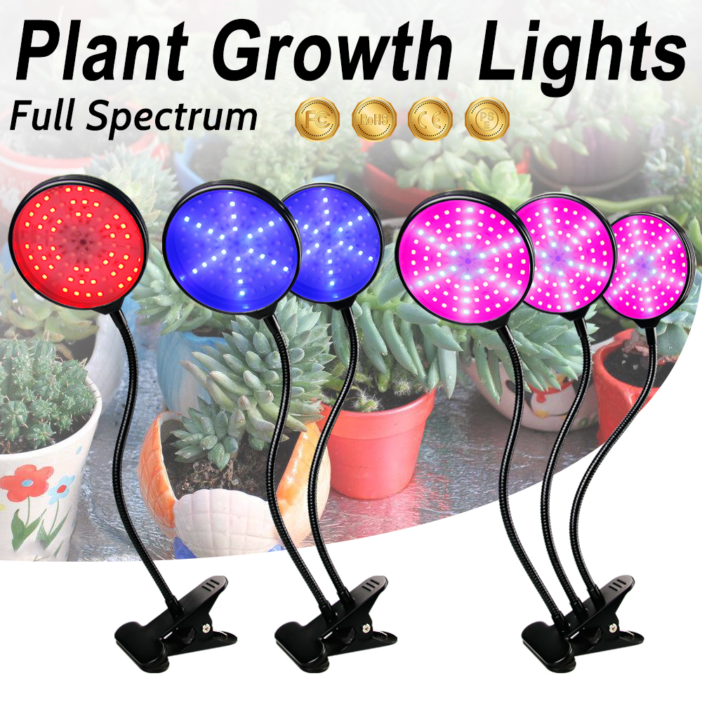 LED Plant Growth Lamp 5V USB 3 Heads LED Plant Lamps Grow LED Full Spectrum For Indoor Vegetable Hydroponic Grow Box Grow Tent