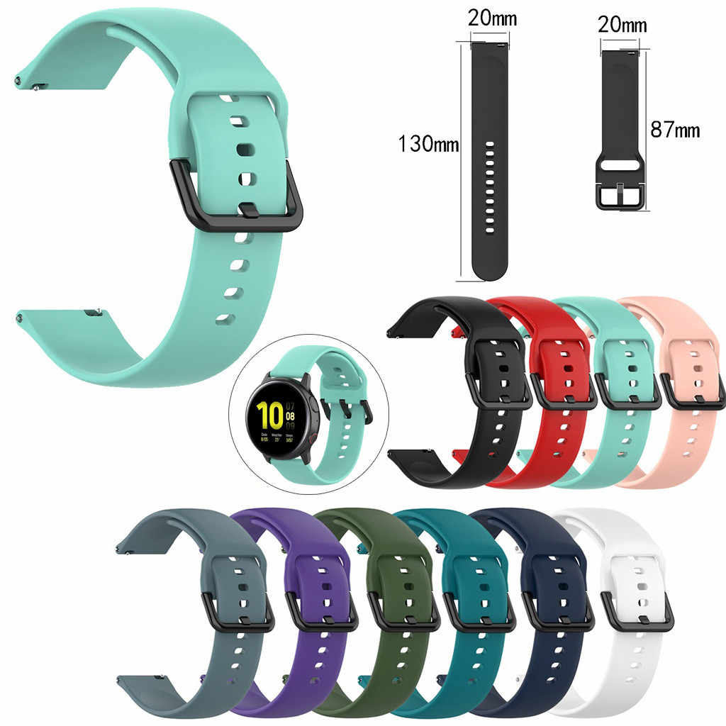 Esportes silicone macio substituição relógio banda pulseira de pulso para samsung galaxy watch active 2 (130 + 87mm)