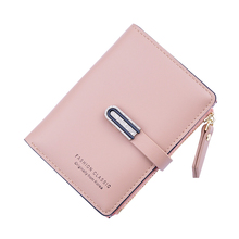 New Women Small Wallets Fashion Ladies Leather Purse Short Hasp Zipper Coin Purse Brief For Women's Clutch Card Holder Wallet new fashion cute women cat wallet cartoon short purse card holder ladies pu leather hasp clutch coin purse female money handbags