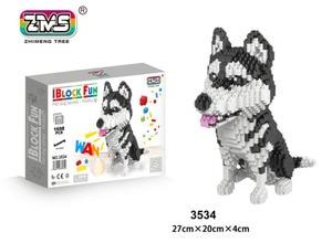 Image 2 - ZMS Jack Russell Terrier Pet Dog Animal 3D Model DIY Micro Diamond Mike Husky dog Mini Blocks Bricks Assembly Toy Gift