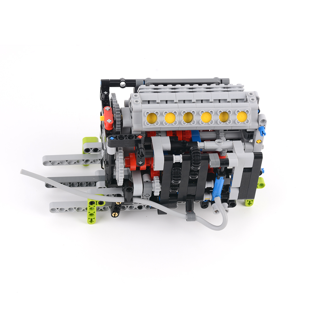 New 516Pcs V12 Engine Integrated Module MOC Small Particle Building Block Kit Assembly Model Kids Boys Christmas Gifts 2019