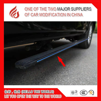 Aluminium alloy Automatic scaling Electric pedal side step running board with light for jeep commander 2007+