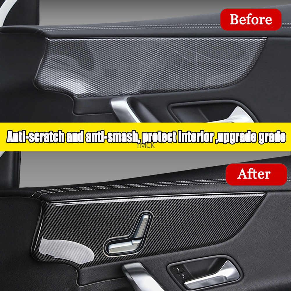 XHULIWQ Copertura della Maniglia della Porta per Mercedes Benz Classe A W177 2019 2020 Rivestimento in ABS Cromato per Maniglie delle Portiere in Fibra di Carbonio