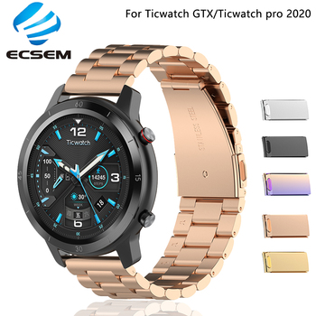 Metal strap for Ticwatch pro 2020 watch accessories 22MM wristband for Ticwatch GTX bracelet replacement belt strap