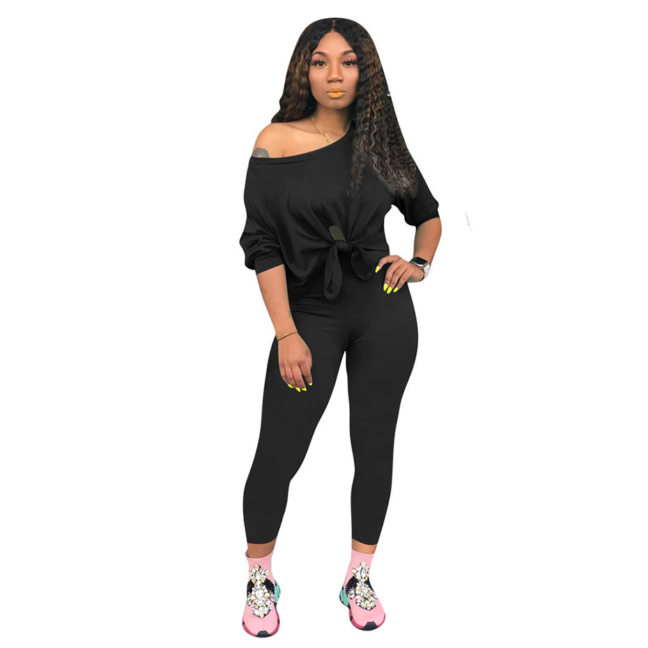HAOYUAN 2 Piece Set Tracksuit Women Festival Clothes Bandage Top And Pants Sweat Suits Sexy Club Outfits Two Piece Matching Set