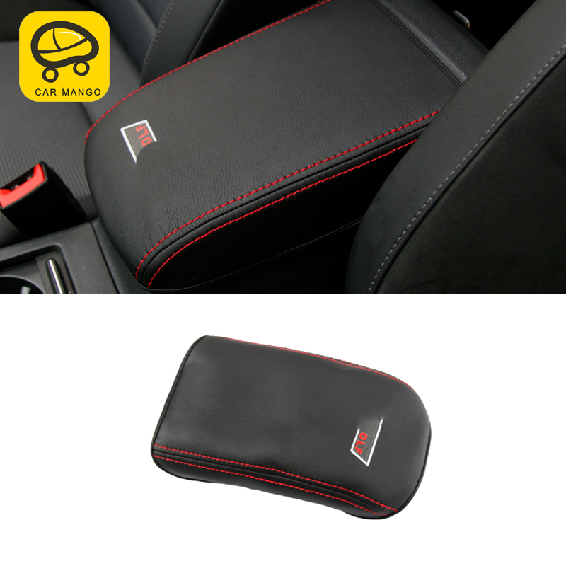 CARMANGO for VW Volkswagen Golf 7 Golf 7.5 MK7 2013 2017 Car Armrest Box Protector Cover Leather Mat Pad Cushion Accessories
