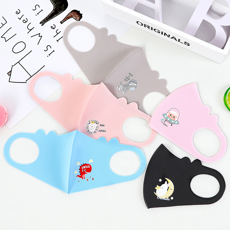 Children Mask Cartoon Breathable Cotton PM2.5 Respiratory Breath Filter Anti Dust Warm Mouth Face Mask For 3-8 Years Old Kids