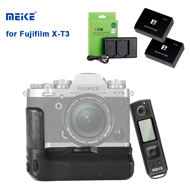 Battery-Grip Camera-Holder Fuji Xt3 Meike X-T3 Pro for Handle with Wireless-Remote