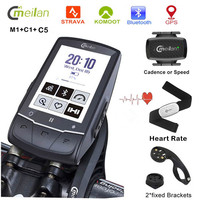MEILAN 2.6 inch GPS Navigation Bike Computer Speedometer Wireless Cycling Computer Support Connection Sensor Heart Rate Monitor
