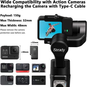 Image 2 - 3 Axis Gimbal Stabilizer for GoPro 8 Action Camera Handheld Gimbal for Gopro Hero 8,7,6,5,4,3, Osmo Action Hohem iSteady Pro 3