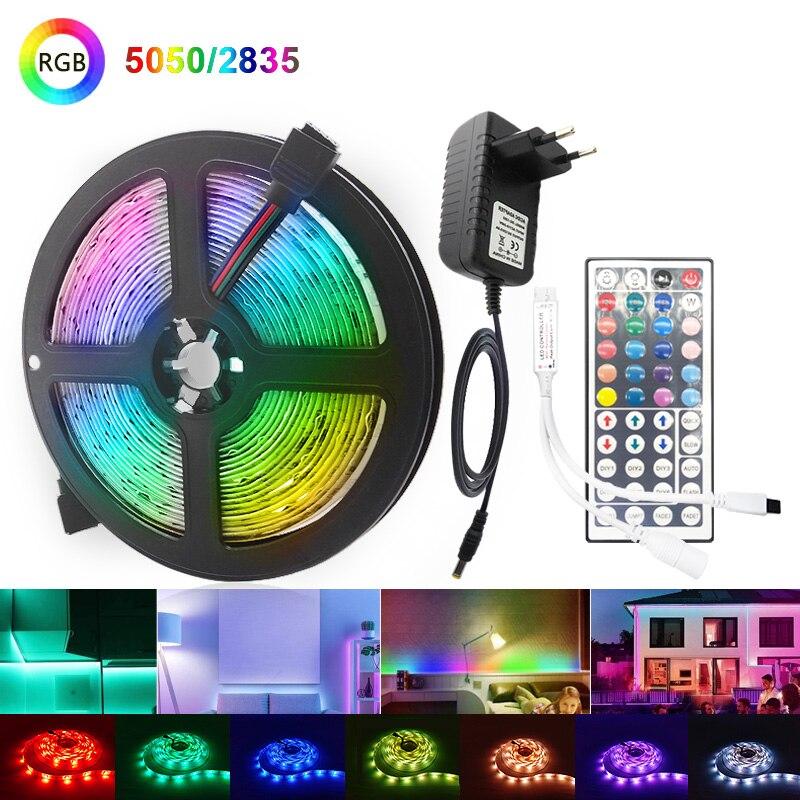 Светодиодные ленты светильник RGB 5050 2835 гибкая лента Wi-Fi Bluetooth 12V Светодиодные ленты 20 м 5 м 10 м 15 м Водонепроницаемый лента Диод + Управление + а...
