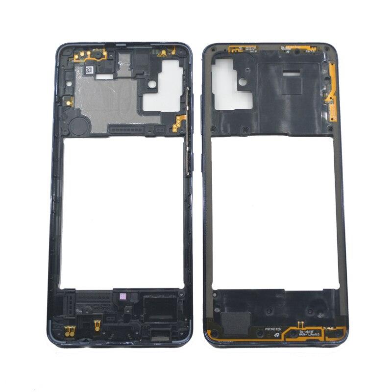 Новая средняя рамка для Samsung Galaxy A51 A515 A515F оригинальный корпус для телефона центральный корпус корпуса с кнопками A51 Запасная часть