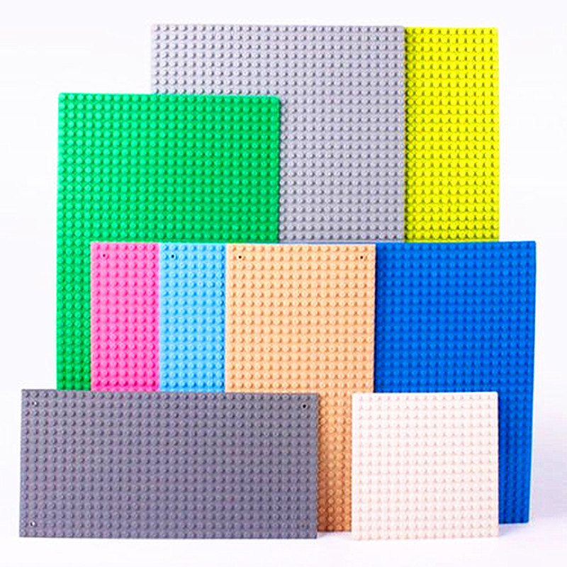 32*32 Dots Plastic Blocks Base Plates Pink Compatible Legoing City Classic Toys Mini Building Bricks Baseplates For Kids