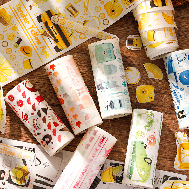 10cm Wide Life Ceremony Series Journal Washi Tape DIY Scrapbooking Sticker Label Kawaii Girl Masking Tape School Office Supply