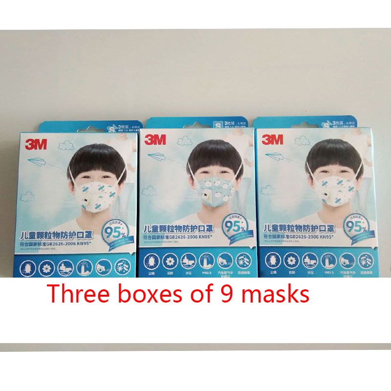 Children's Mask 3M Kids Mouth Face Mask Student Particulate Respirator Breathable Boys And Girls Masks 3 Boxes A Total Of 9
