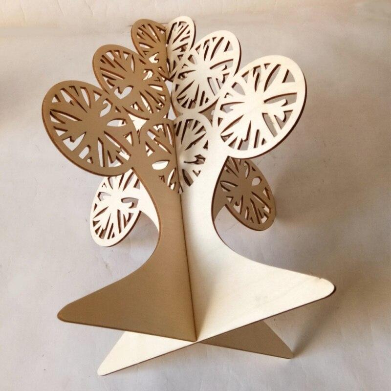 Kerstboom Houten Craft Diy Montage 3D Hollow Desktop Ornamenten Kids Gift Kerst Decoratie Voor Thuis Kerst Decoratie - 3