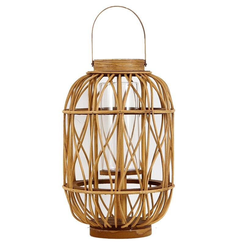 Lanterne en bois Vintage chinoise pour bougies Lanterne en bois Lanterne Decorativas Photophore Lanterne en bois pièce maîtresse classique Zt37