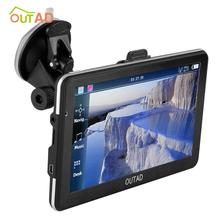 OUTAD Durable 8GB Memory Card High-accuracy Touch-screen High-sensitivity Receiver Module 7 LCD Display GPS Navigation