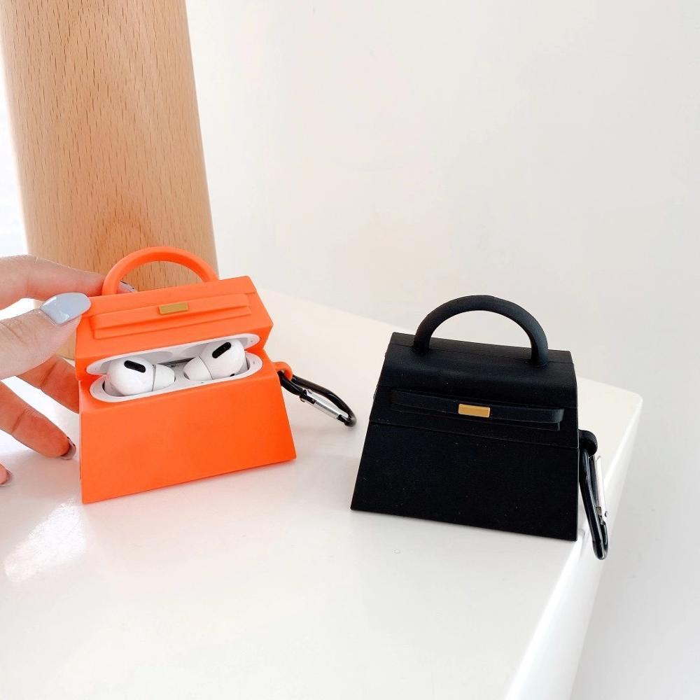 Роскошная брендовая 3D Мини сумка чехол для наушников для apple Airpods 1 2 3 Pro модная сумка для Birkin Bluetooth гарнитура чехол для наушников|Аксессуары для наушников|   | АлиЭкспресс