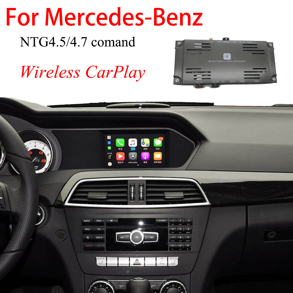 CarPlay WIreless Video Interface <font><b>For</b></font> <font><b>Mercedes</b></font> C-Class W204 2011–2014 Backup Camera Decoder Car Play Android Auto Module WIFI image